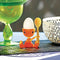 Alessi A di Cico Egg Cup with Salt Castor and Spoon - Sweet Orange