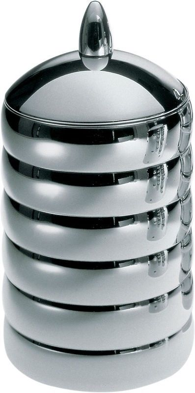 Alessi Kalisto 2 Kitchen Box / Jar in 18/10 Stainless Steel