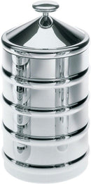 Alessi Kalisto 3 Kitchen Box / Jar in 18/10 Stainless Steel