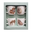 Royal Worcester Wrendale Designs by Hannah Dale Set of 4 Farmyard Mugs in Giftbox
