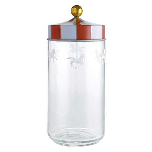 Alessi Circus Glass Storage Jar with Hermetic Lid 150cl