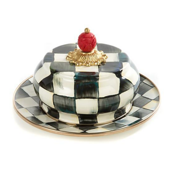 MacKenzie-Childs Courtly Check Enamel Butterhouse