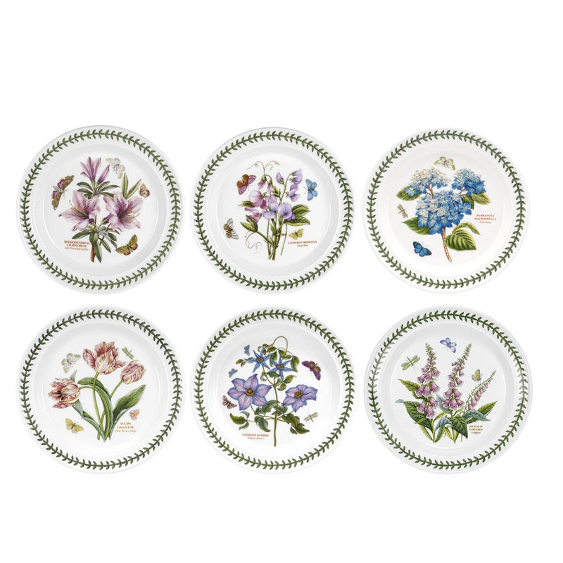 Portmeirion Botanic Garden Plate (Drum) 26.7cm Set of 6