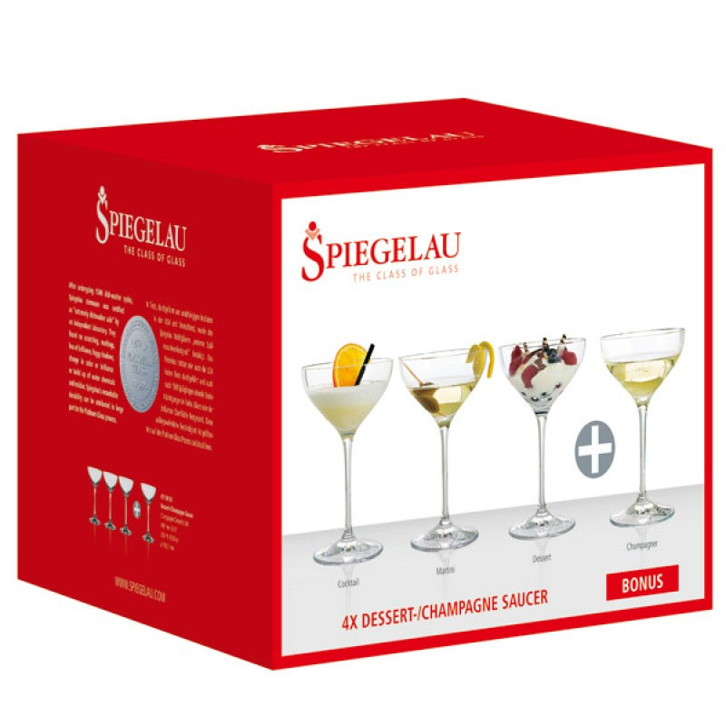 Spiegelau Prosecco Dessert/Champagne Saucers Set - Set of 4