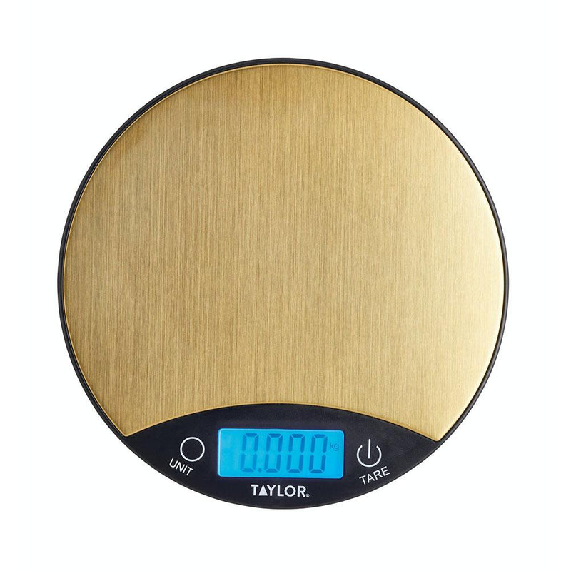 Taylor Pro Digital Dual 5Kg Kitchen Scales - Black & Brass