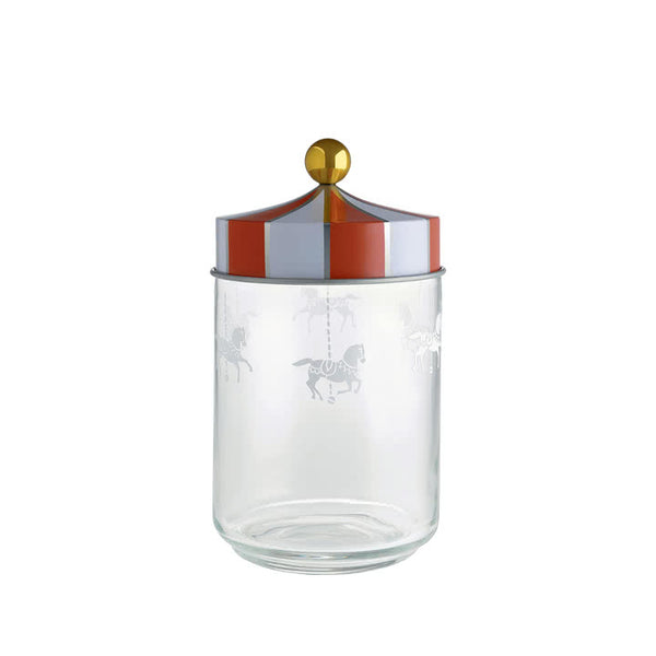 Alessi Circus Glass Storage Jar with Hermetic Lid 100cl