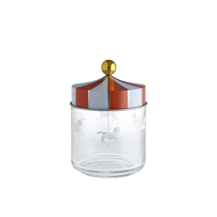 Alessi Circus Glass Storage Jar with Hermetic Lid 75cl