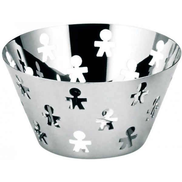 Alessi Girotondo Fruit Bowl with Pierced Edge in 18/10 Stainless Steel Mirror Polished
