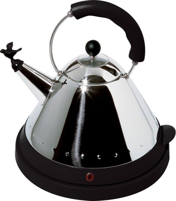 Alessi Michael Graves Cordeless Electric Kettle with Bird Black