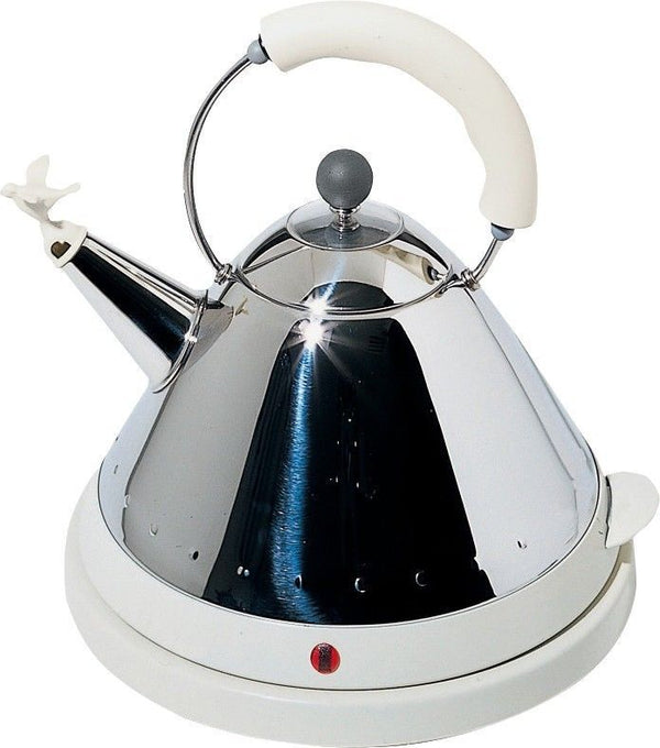 Alessi Michael Graves Cordeless Electric Kettle with Bird White