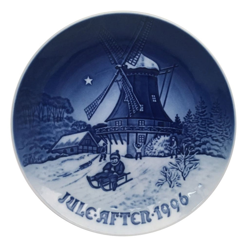 Bing & Grondahl Christmas Plate 1996 - Winter At The Old Mill