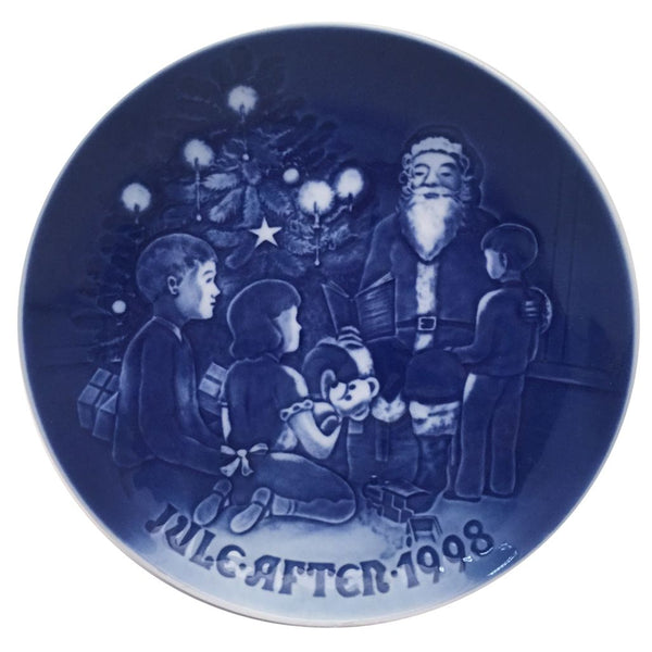 Bing & Grondahl Christmas Plate 1998 - Santa The Storyteller
