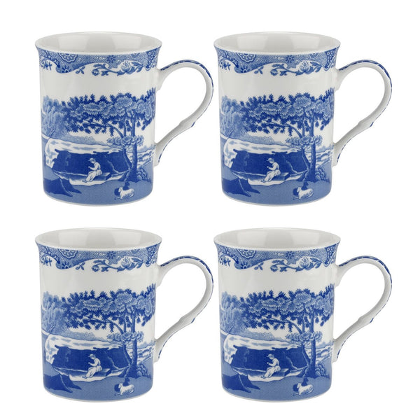 Spode Blue Italian Large Mugs Set of 4