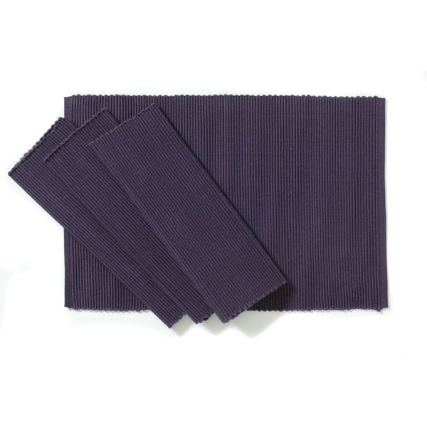 C'est Ca Ribbed Placemats Grape (Set of 4)