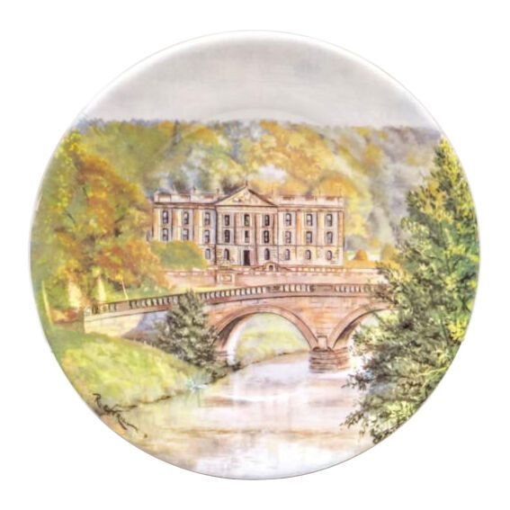 Chatsworth House Plate - Taken from an original watercolour by Raymond Everill