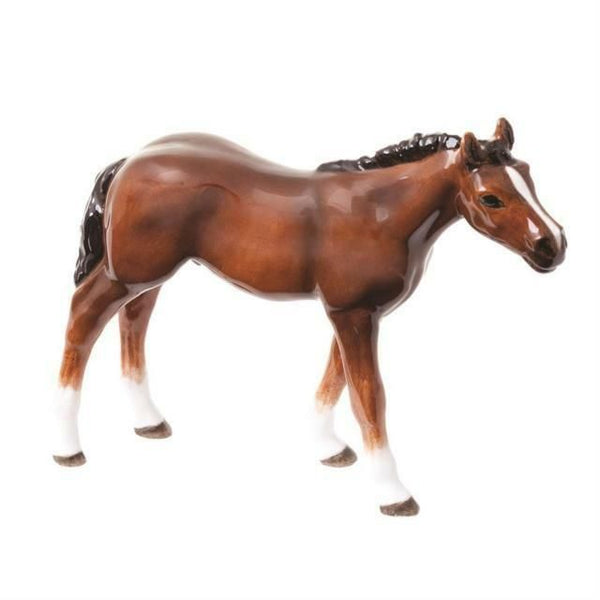 John Beswick Horses - Thoroughbred Foal (Light Bay)