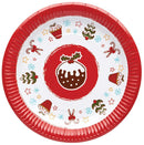 Kitchen Craft Christmas Fayre Pack of 12 Paper Plates
