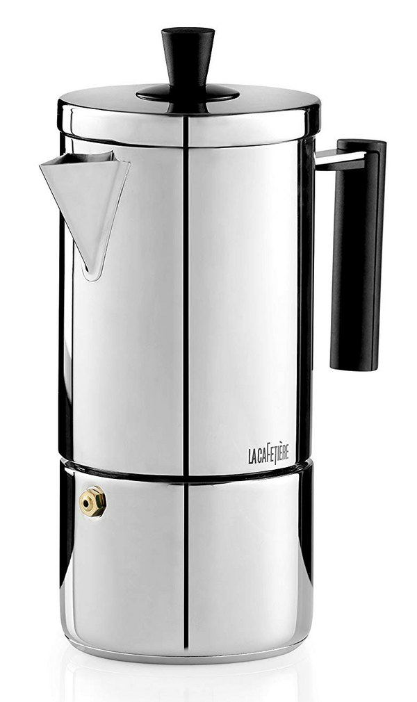 La Cafetiere 6-Cup Stainless Steel Geo Espresso Coffee Maker Percolator, Silver