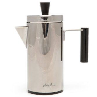 La Cafetiere Geo Silver Cafetiere 8 Cup French Press Coffee Maker