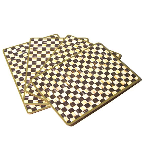 MacKenzie-Childs Courtly Check Cork Back Placemats - Set of 4