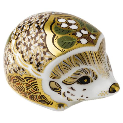 Royal Crown Derby Hedgehog Snowberry Paperweight