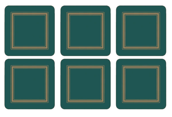 Pimpernel Classic Emerald Coasters Set of 6