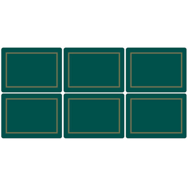 Pimpernel Classic Emerald Placemats Set of 6