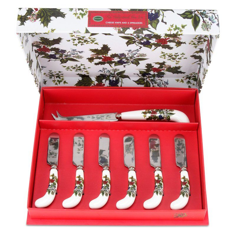 Pimpernel for Portmeirion The Holly and The Ivy Cheese Knife and 6 Spreaders