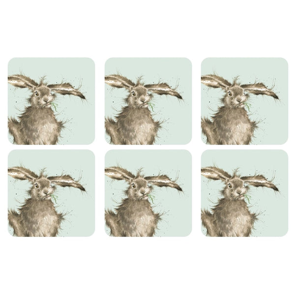 Pimpernel for Royal Worcester Wrendale Designs Hare Coasters Set of 6