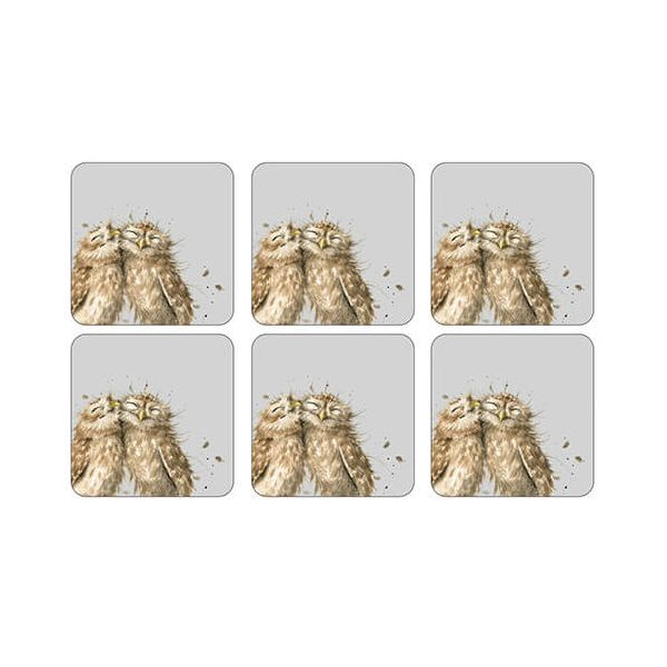 Pimpernel for Royal Worcester Wrendale Designs Owl Coasters Set of 6
