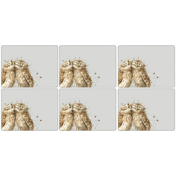 Pimpernel for Royal Worcester Wrendale Designs Owl Placemats Set of 6