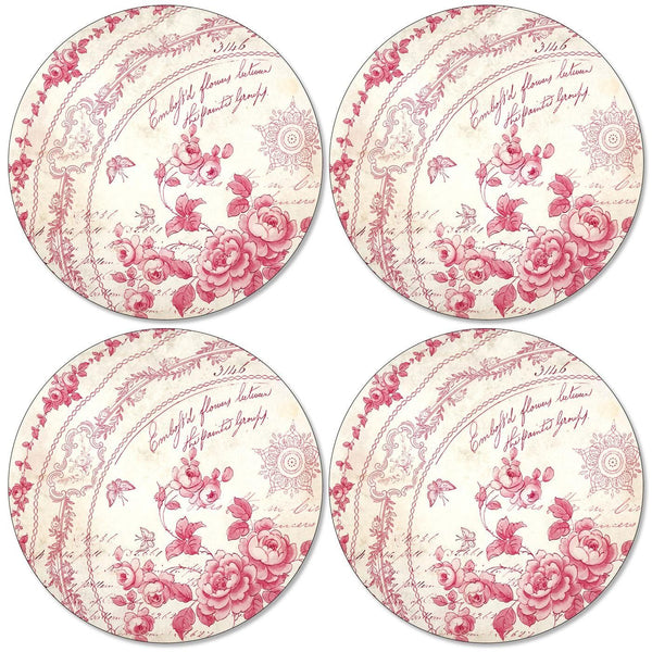 Pimpernel Red Archive Round Placemats Set of 4