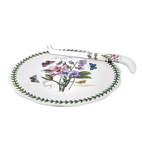 Portmeirion Botanic Garden Cheese Plate with Knife