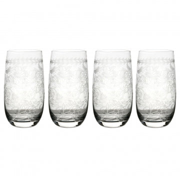 Portmeirion Botanic Garden Crystal Hiballs Set of 4