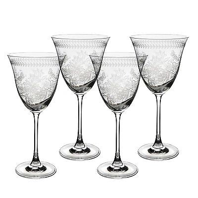 Portmeirion Botanic Garden Crystal Wine Glass Set of 4