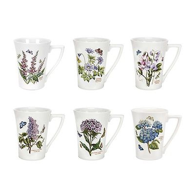 Portmeirion Botanic Garden Mandarin Mugs Set of 6