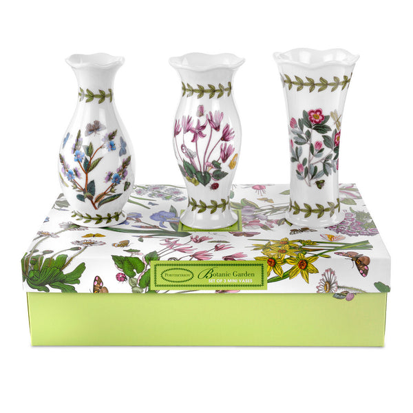Portmeirion Botanic Garden Mini Vase Set of 3