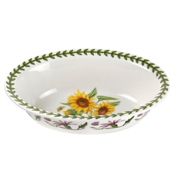 Portmeirion Botanic Garden Oval Pie Dish Sunflower 8inch