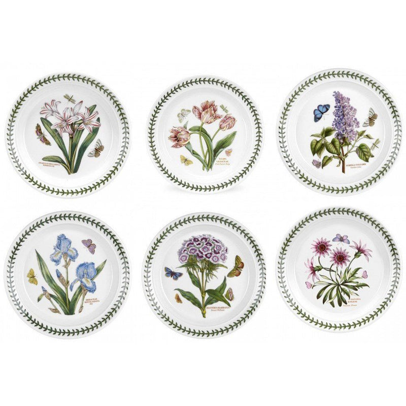 Portmeirion Botanic Garden Pick Me Up Plate 10inch Set of 6