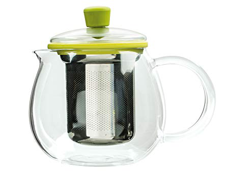 Randwyck Brygga 600ml/3-cup Round Glass Teapot with Removable Strainer/Filter