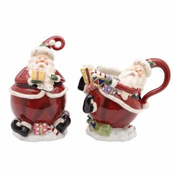 Royal Albert Christmas Collection Santa Sugar & Creamer