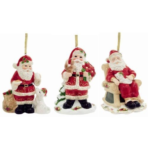 Royal Albert Musical Christmas Ornaments - Santa's Friends (Set of 3)