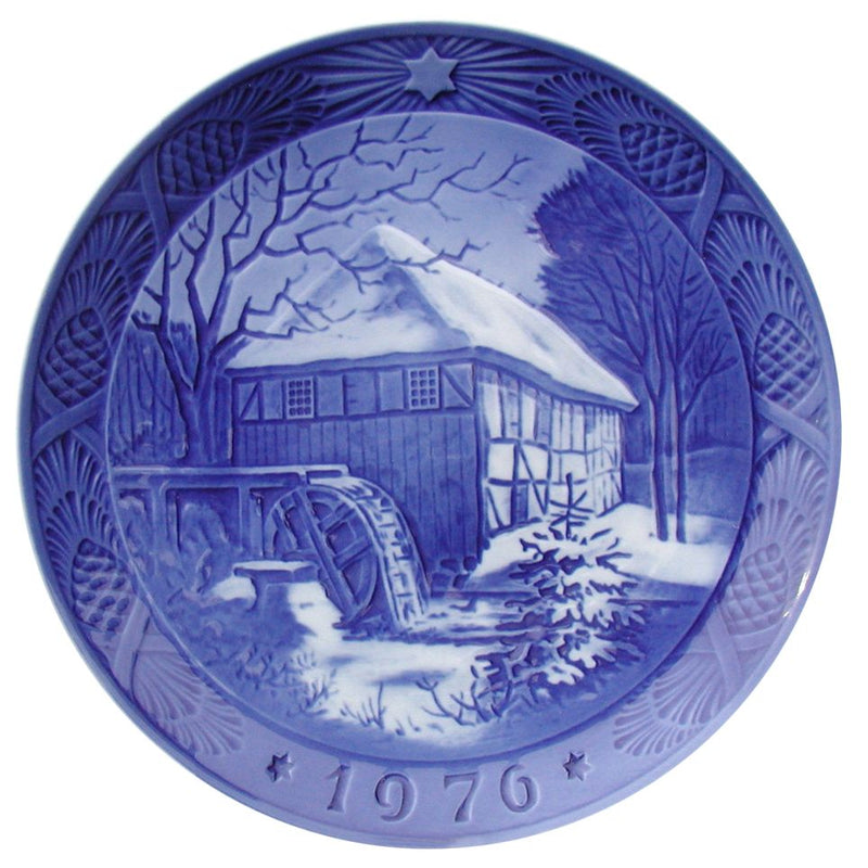Royal Copenhagen Christmas Plate 1976 - Vibaek Mill