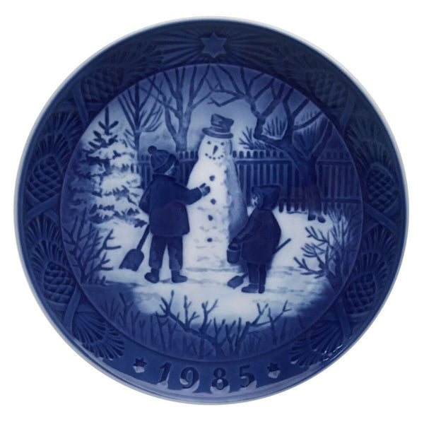 Royal Copenhagen Christmas Plate 1985 - The Snowman
