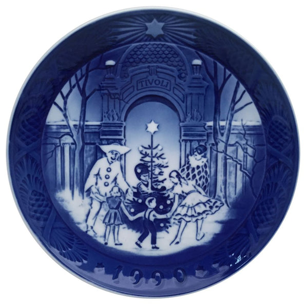 Royal Copenhagen Christmas Plate 1990 - Christmas at Tivoli