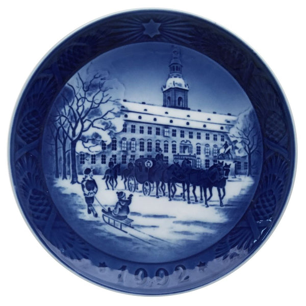 Royal Copenhagen Christmas Plate 1992 - The Royal Coach