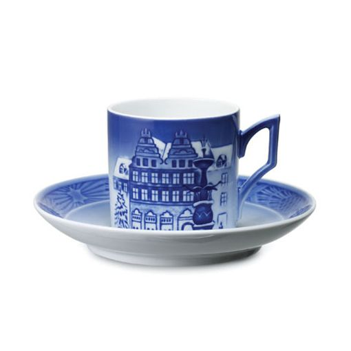 Royal Copenhagen Cup & Saucer 2009 - Christmas at Amagertors