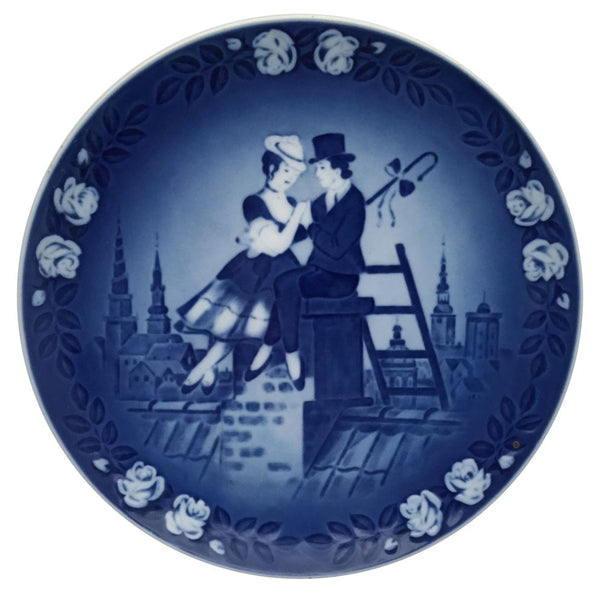 Royal Copenhagen Fairytale Plate No. 1 - Hans Christian Anderson The Shepherds and the Chimney Sweep