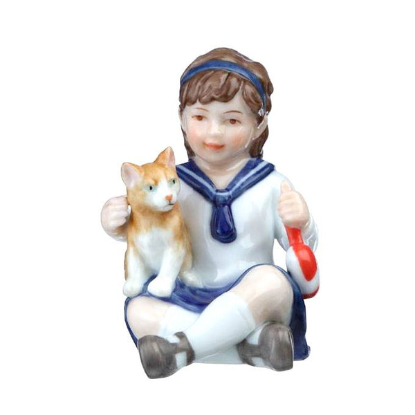 Royal Copenhagen Figurine - Anna with Cat