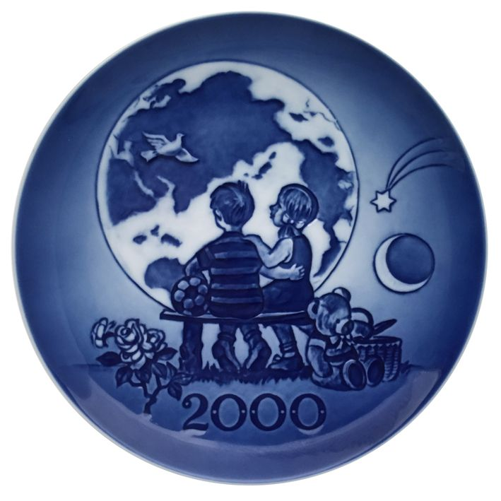 Royal Copenhagen Plate 2000 - The Millennium